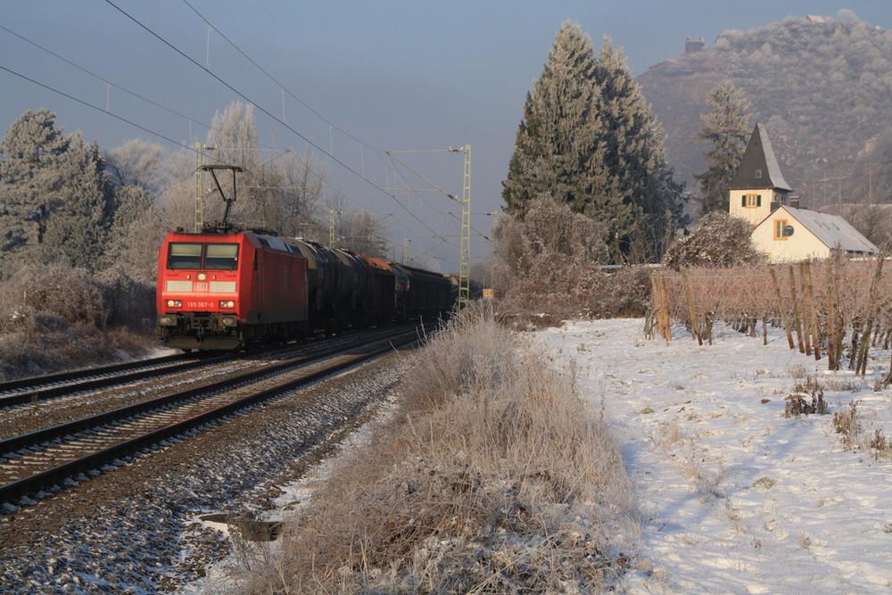 Wintersonne am Rhein
