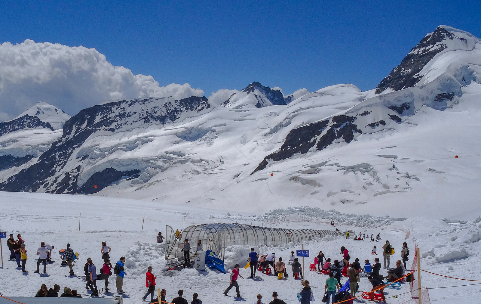 Wintersport am Jungfraujoch