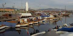 Winterstille am Hafen