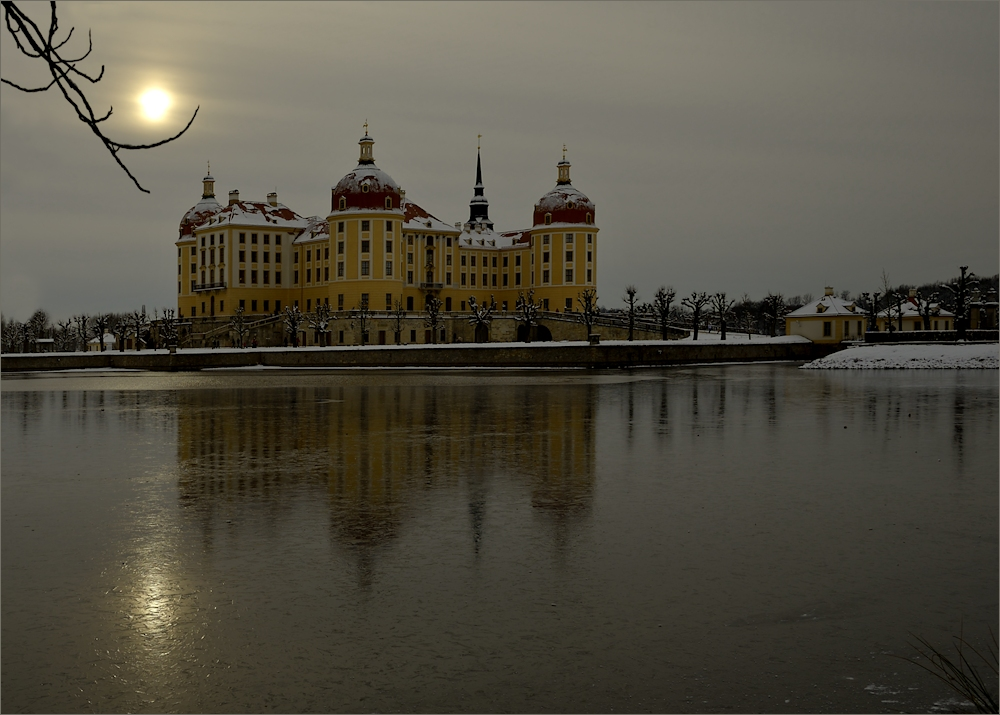 Winterstimmung am Schloss Moritzburg