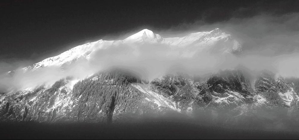 Winterstimmung in Kandersteg am frühen Morgen. - La vue depuis ma fenêtre...