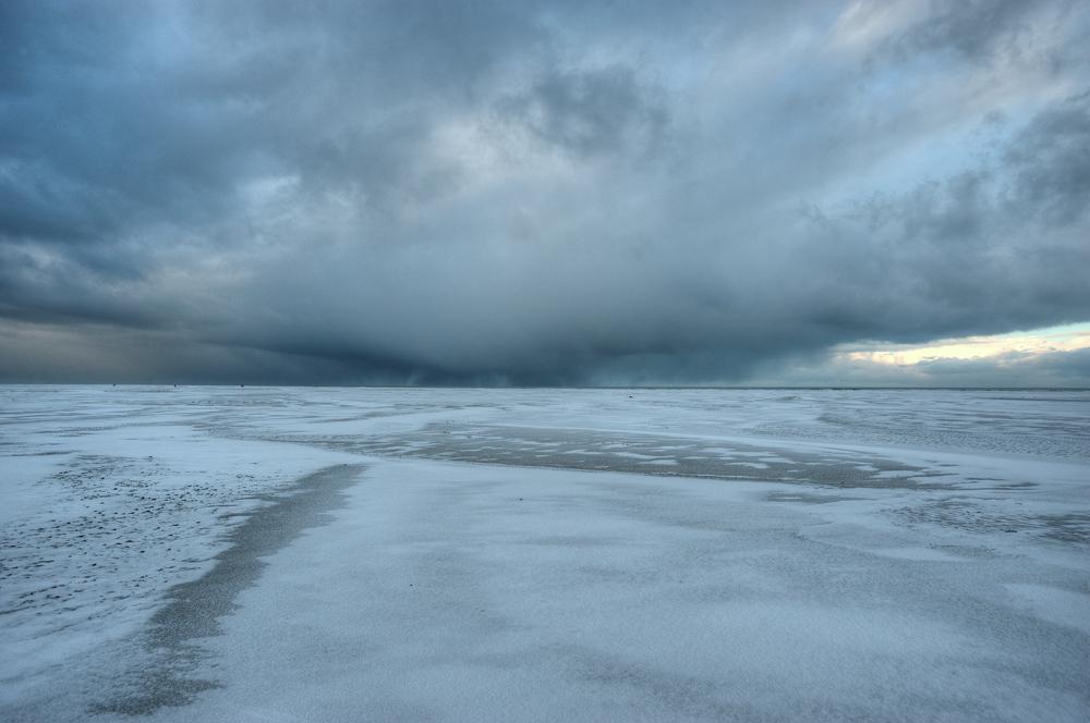 Wintersturm über der Nordsee