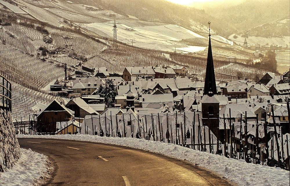 Winterszene oberhalb von Graach
