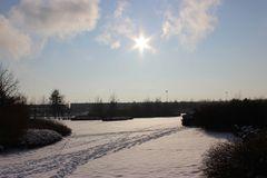 Wintertag am Kraftwerk
