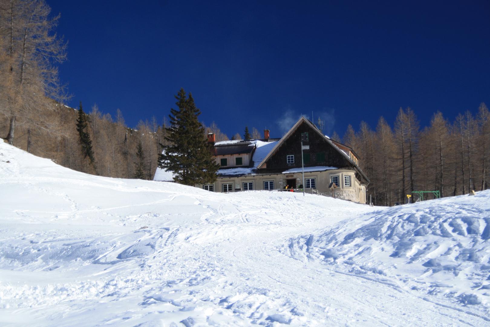 Wintertag in den Bergen (Karawanken)