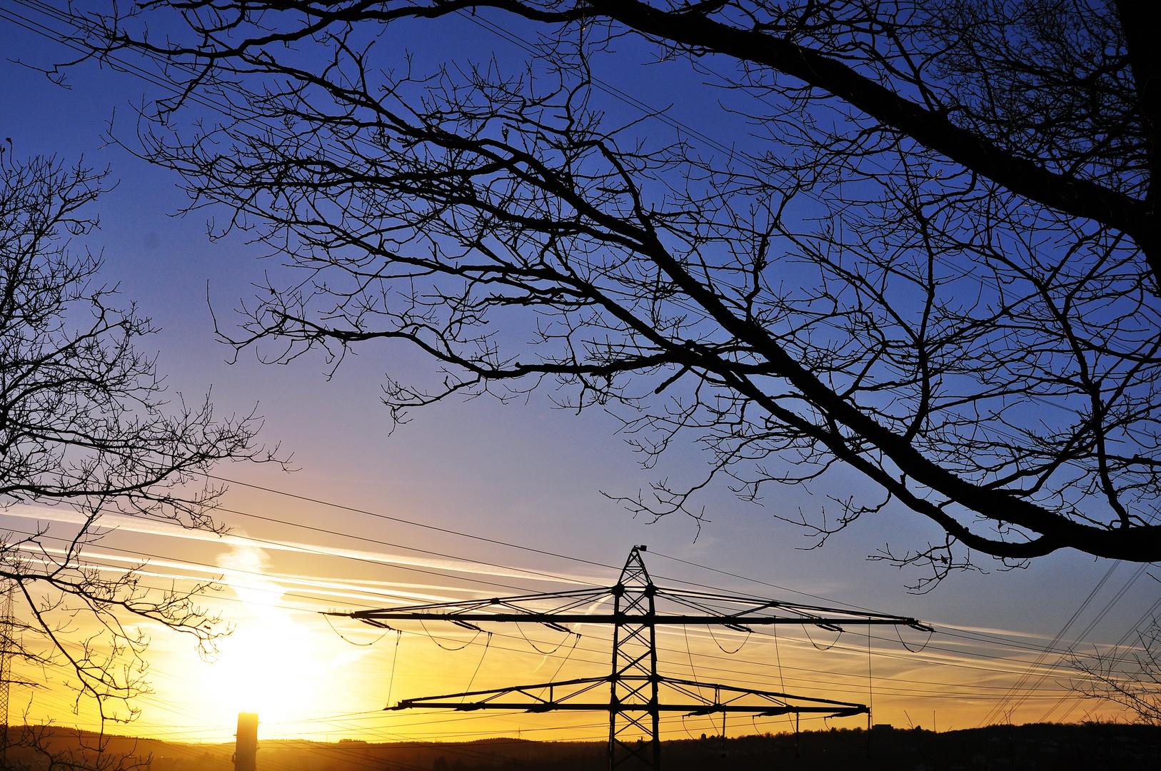 """Wintertag-Sonnenuntergang"""