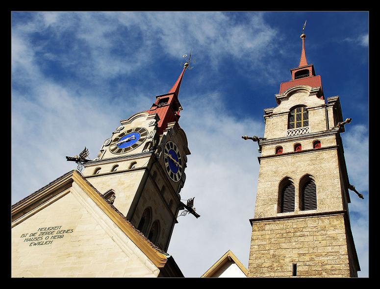 Winterthur - Kanonen auf Kirchen