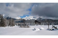 Wintertime in the mountains of the High Tatras
