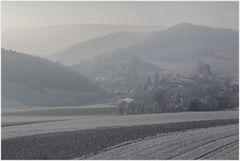 Winterträumendes Dörfchen...