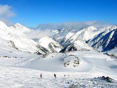 Wintervergnügen auf dem Gletscher