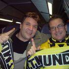 Wir auf der Rückfahr im Zug von Köln