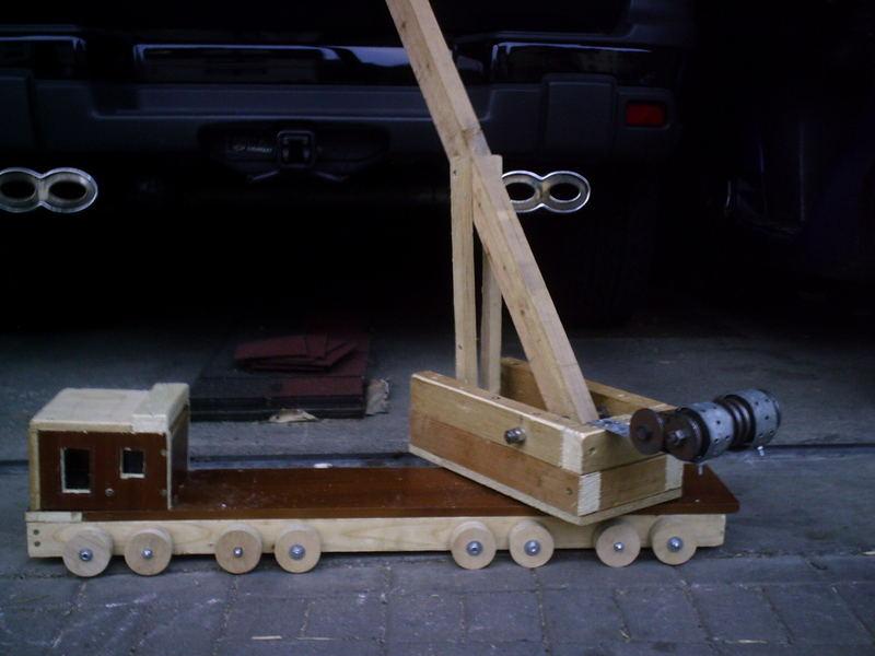Wir bauen einen Telekran aus Holz