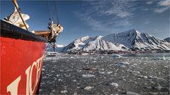 Wir treiben mit dem Eis des Gletschers....