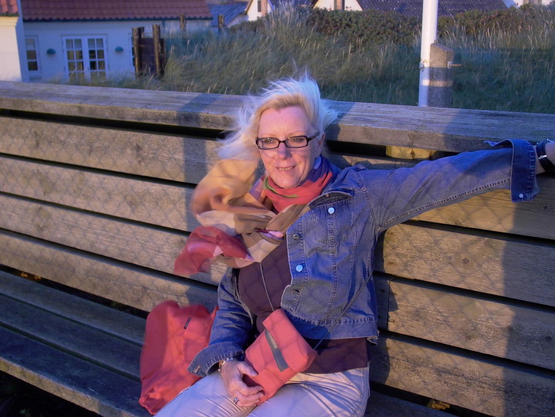 Wir warten auf den Sonnenuntergang in Lönstrup