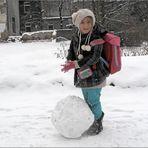 ... wird schon noch ein großer Schneemann werden