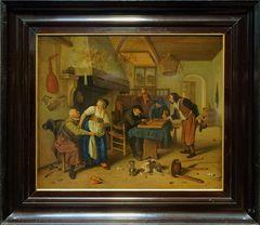Wirtschaftseinrichtung, bekannt als ,Tweeërlei spel'  Jan Havicksz Steen  (1626-1679)