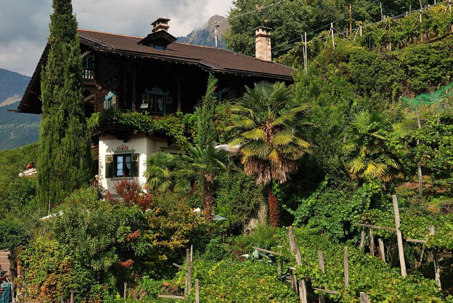 Wirtshaus oberhalb von Meran