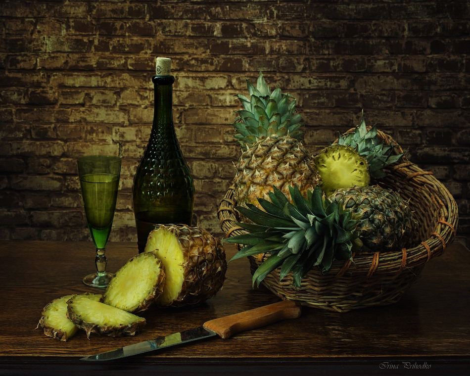 With pineapples