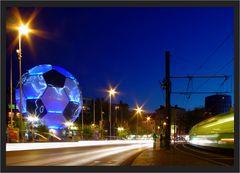 WM Ball in Hannover mit Straßenbahn