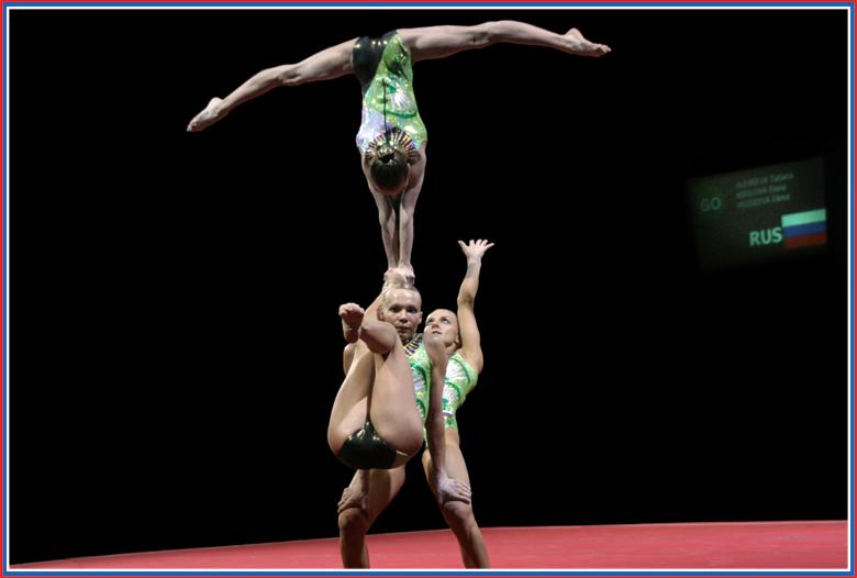 WM Sportakrobatik - Finale Damengruppe Russland 1