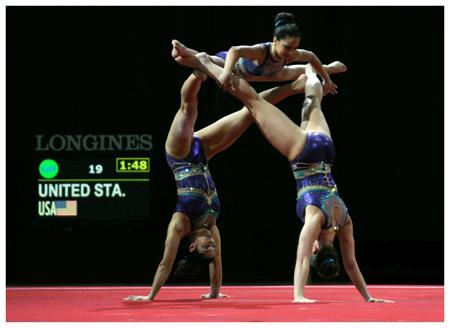 WM Sportakrobatik - Finale Damengruppe USA