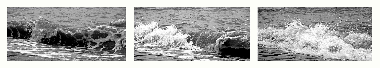 Wo de Nordseewellen trecken an de Strand....