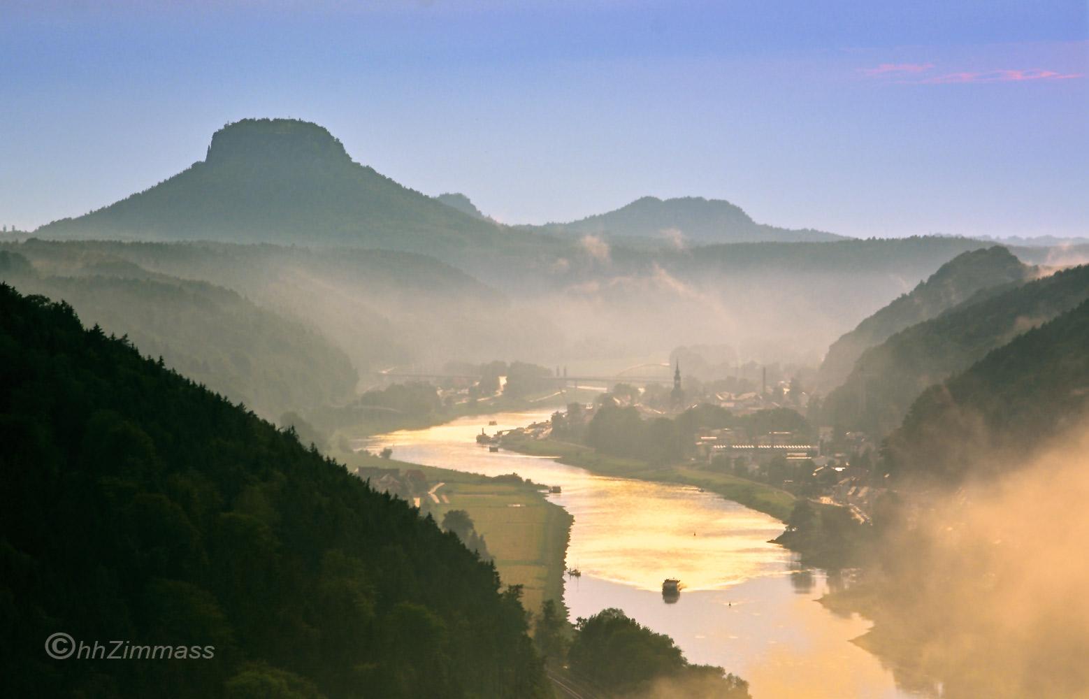 Wo die Elbe das Gebirge verlässt