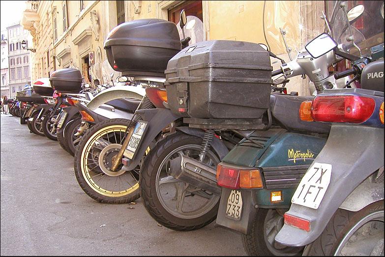 Wo ,zum Teufel, habe ich denn mein Moped abgestellt?