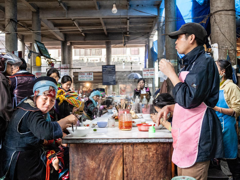 Wochenmarkt in Sapa - Vietnam