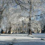 Wörlitzer Schloss bei -7 Grad