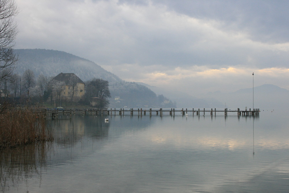 Wörthersee im Nebel
