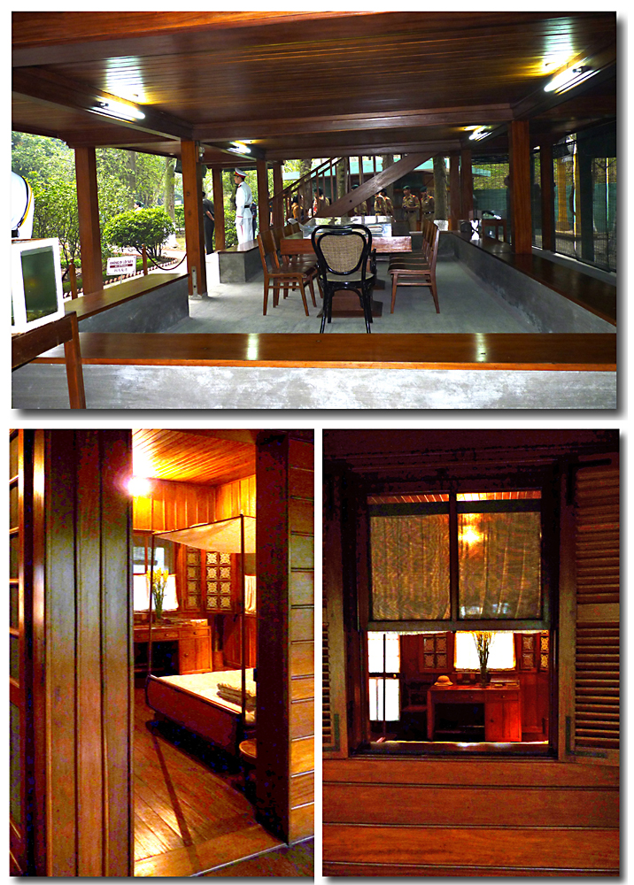Wohn-Arbeits- und Schlafzimmer von Ho Chi Minh in Hanoi