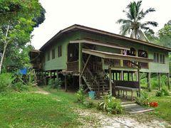 Wohnhaus auf Borneo