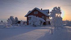 Wohnhaus in Lapland