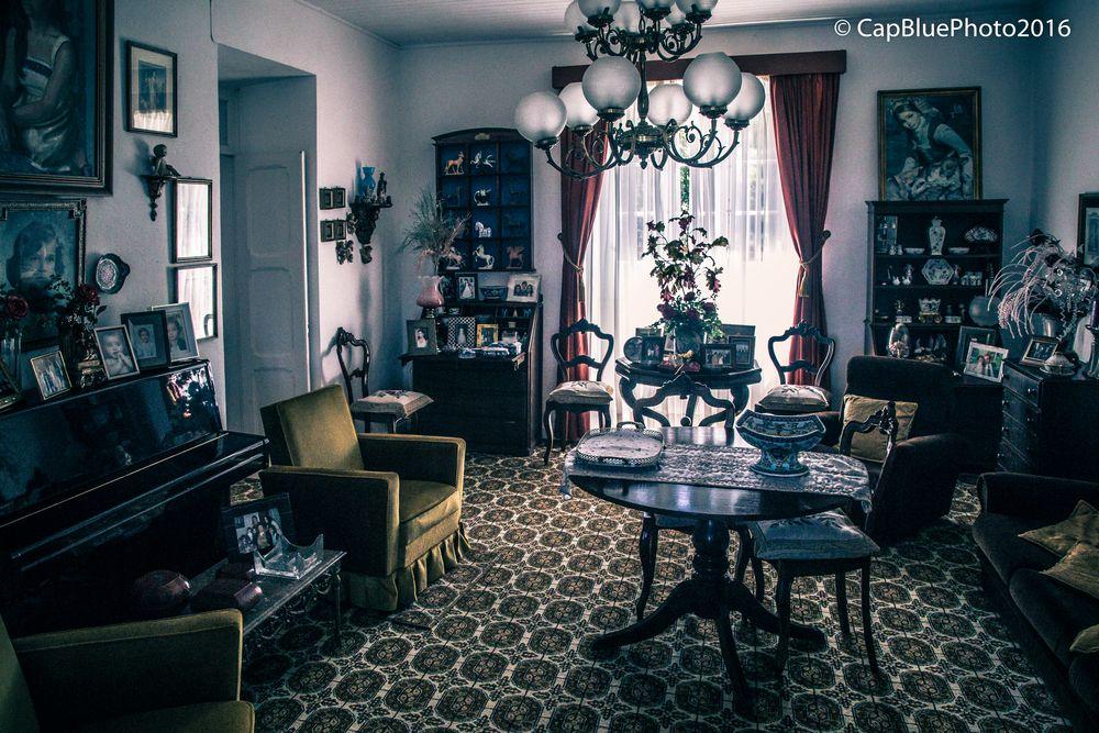 Wohnzimmer der Ananasbaronin in Capelas