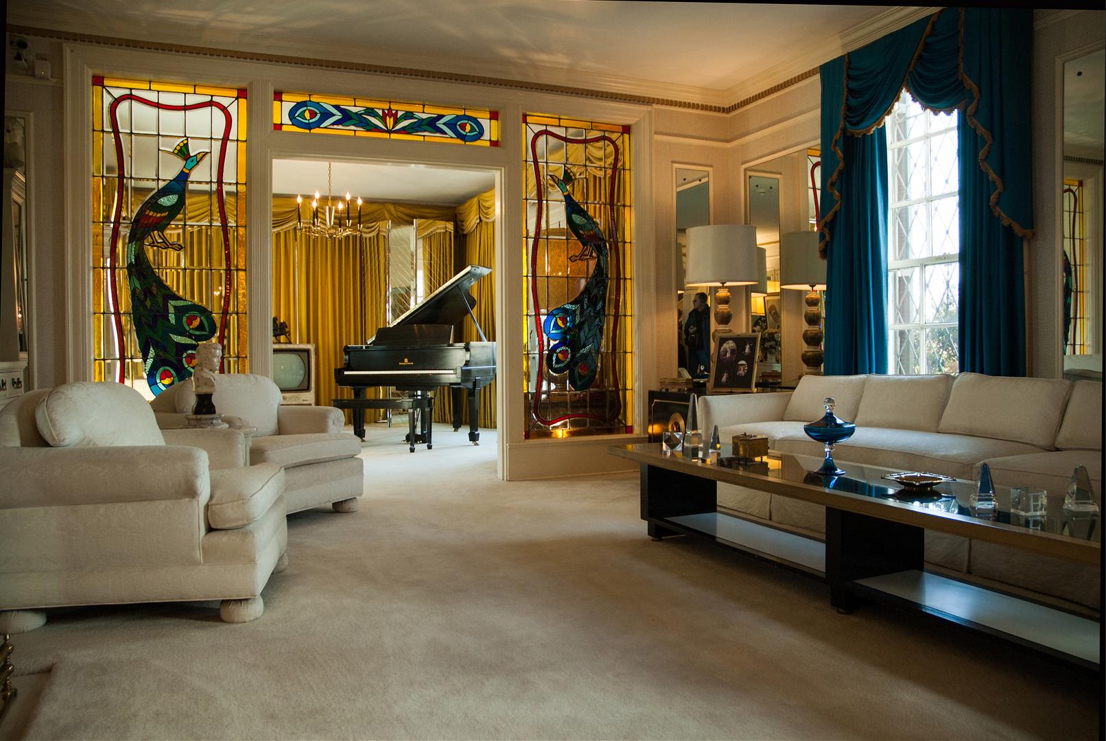 Wohnzimmer Villa Graceland Elvis Presley Foto & Bild ...
