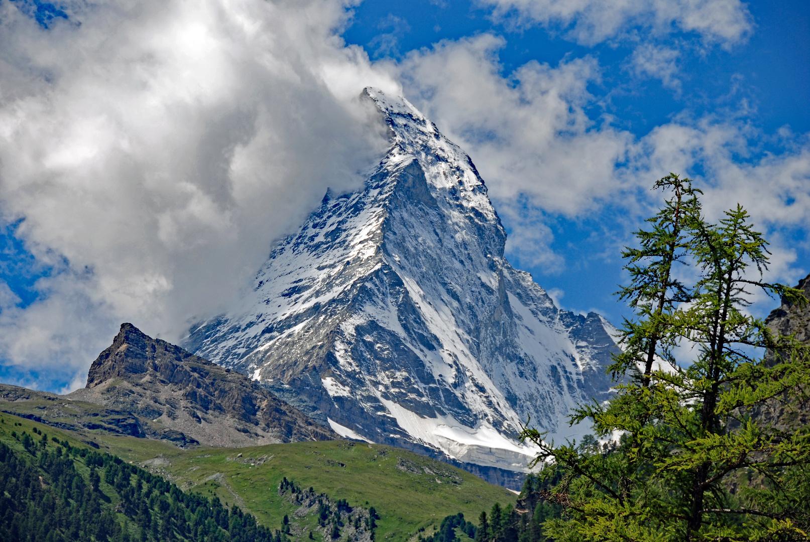 Wolken am Matterhorn