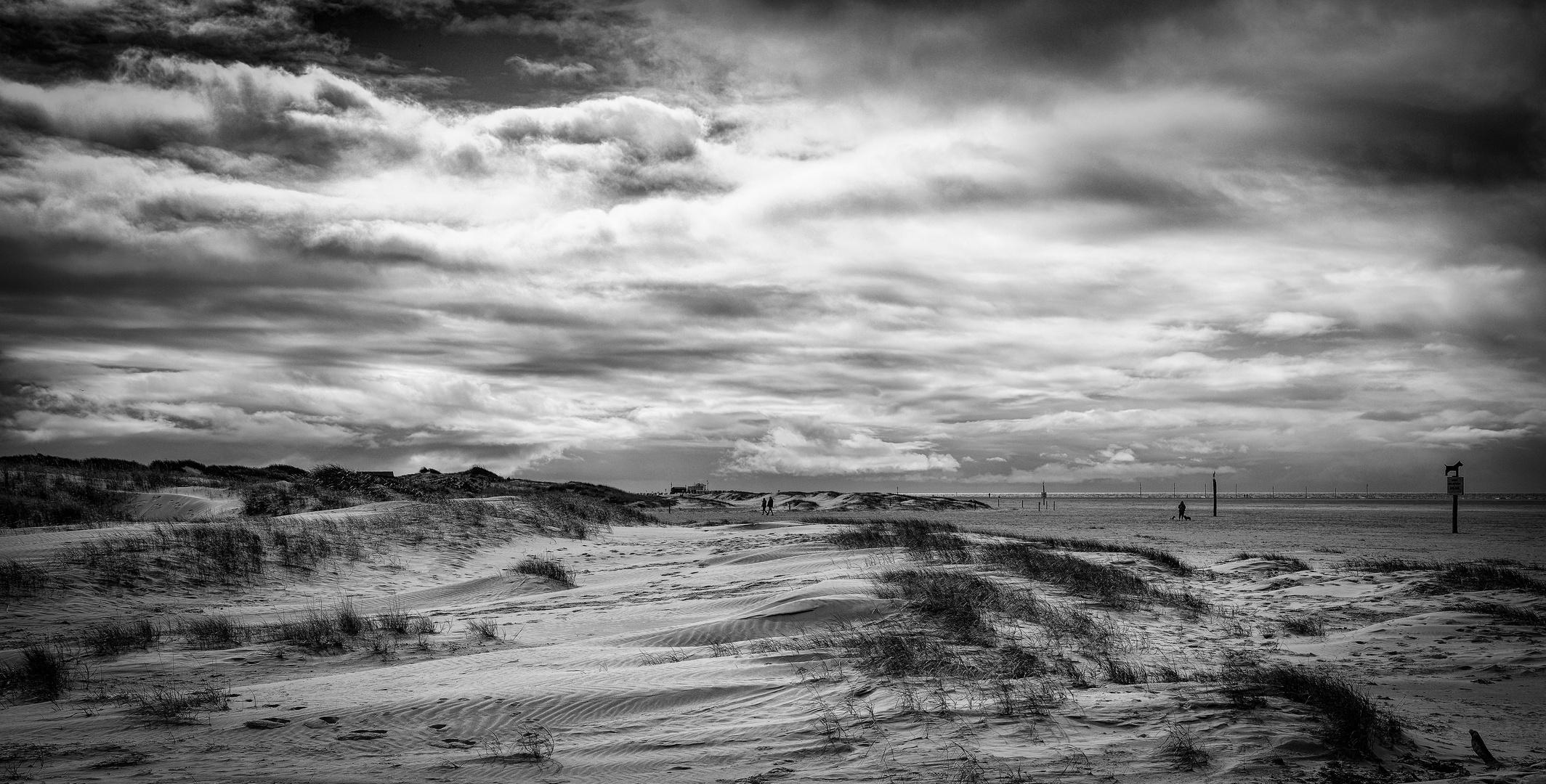 Wolken am Nordstrand
