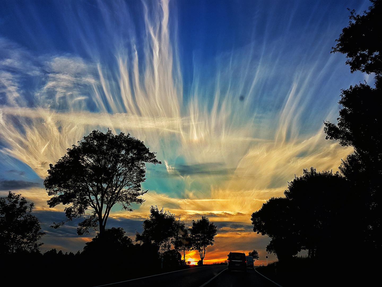 Wolken am Sommerabend