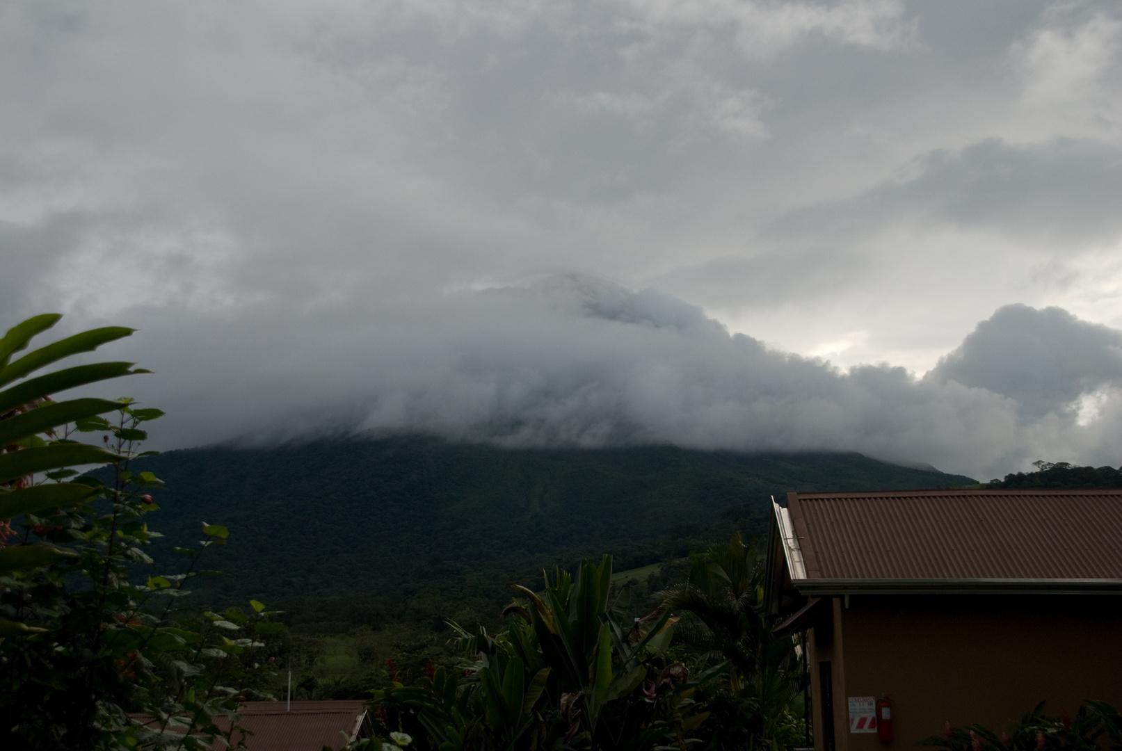 Wolken am Vulkan