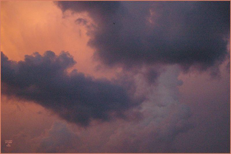Wolken-Aquarell VI