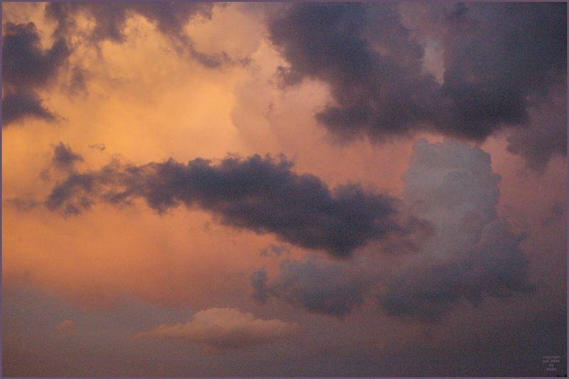 Wolken-Aquarelle ..... I - VII