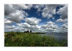 Wolken boven het Alkmaardermeer.