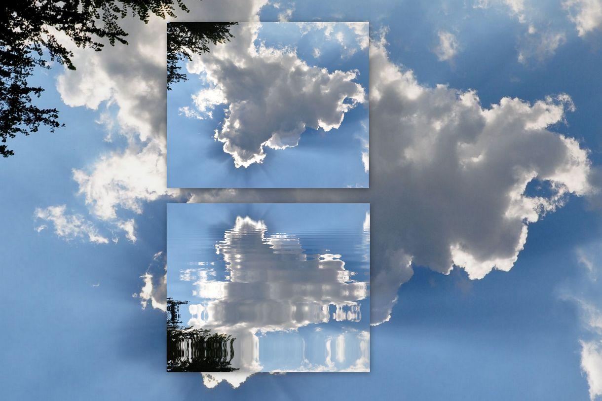 Wolken im Spiegel