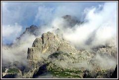 Wolken irgendwo in den Dolomiten