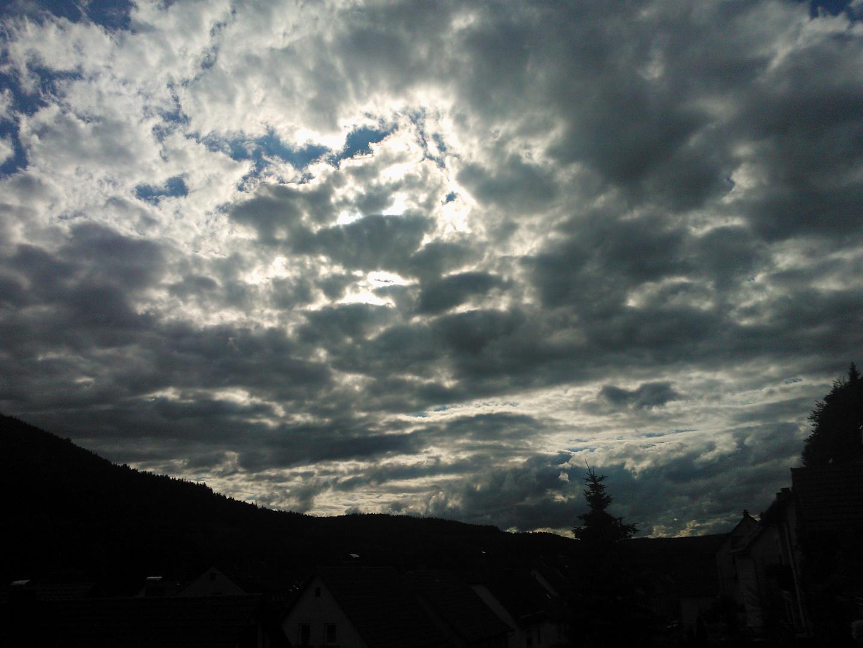 Wolken, manchmal bedrohlich