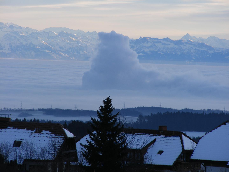 Wolken mit Beule