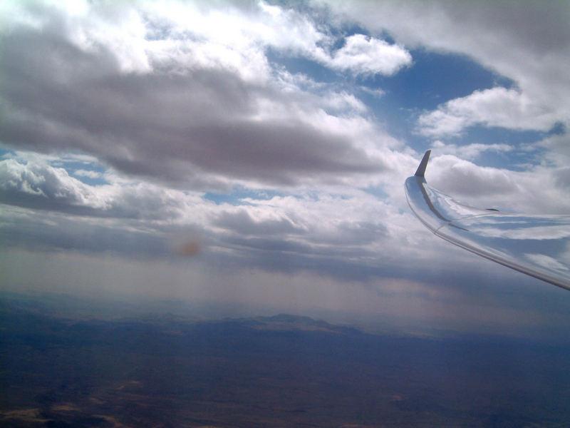 Wolken-Segelflug-Kalahari