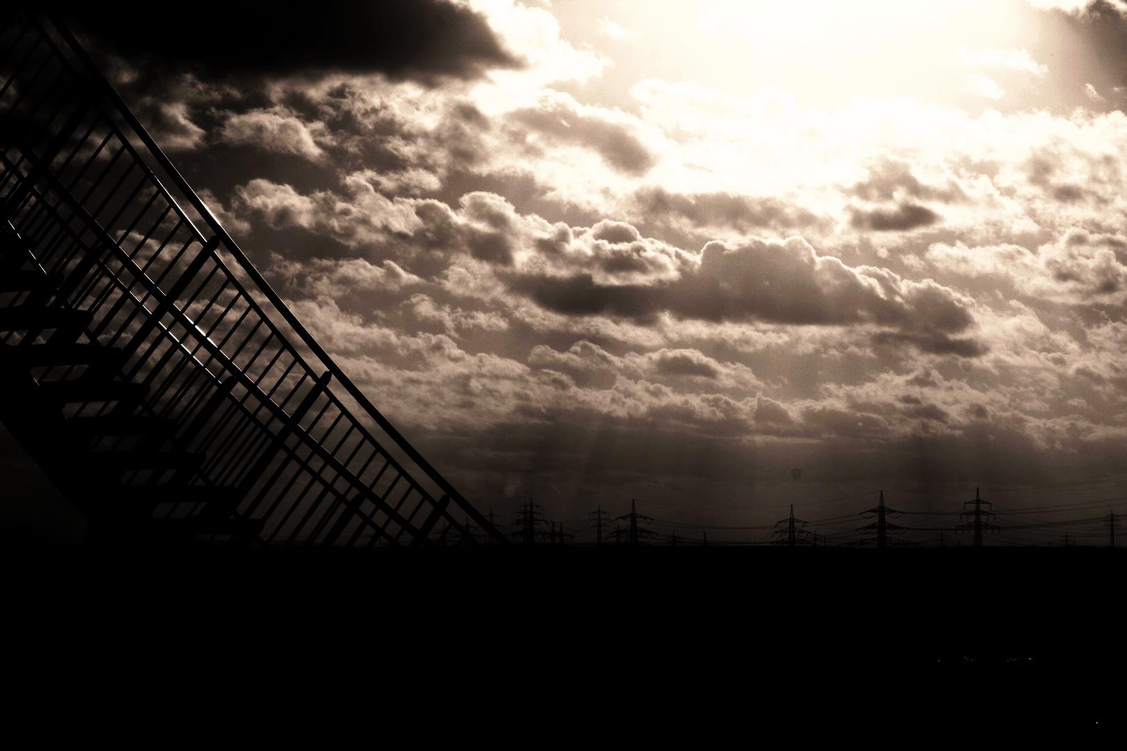 wolken treppe