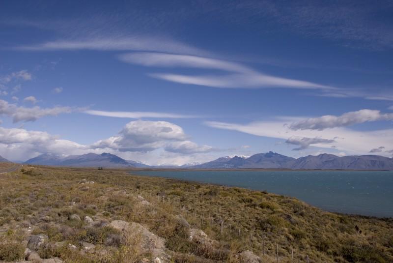 Wolken über dem Lago Argentino